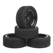 4 X 1/10 RC On-road Car Unique Foam Tires Wheel Set 12mm Hex Fit HSP HPI 23001