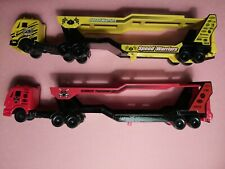 "Maisto Car Carrier 8"" Diecast & Plastic Semi Truck Auto Long Hauler Transport"