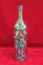 Glass Bottle Cotton Work Inside Old Vintage Rare Decorative Collectible PK-21