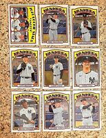 Lot of 9 2021 Topps Heritage NY YANKEES Baseball Cards, Aaron Judge, Gerrit Cole