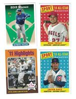 8) 2019 Topps Archives 1993 ROOKIE/ ALL-STAR SP Lot TROUT/ JETER / ICHIRO/ BAEZ+