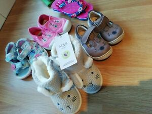 Clarks Bunny First Shoes 3F 18 1/2 Months & M&S 12-18m Knitted Boots. Bundle 3/4