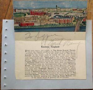 JACK BENNY Autograph 1935 Signed-Album Page - Actor/Comedian/Vaudevillian/Radio