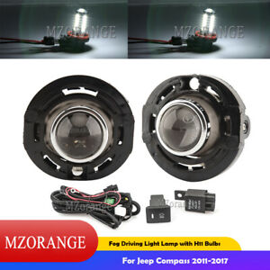 Fog Lights Driving Lamp Wiring Relay Kit For Jeep Compass 2011-2017 Assembly Set