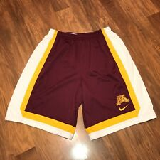 Nike MINNESOTA GOPHERS Basketball PRACTICE ISSUE Mens Team Player jersey Shorts