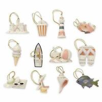 LENOX ~ Set of 12  SUMMER ORNAMENTS for Tree ~ Beach Fish Crab Shell NO tree NIB