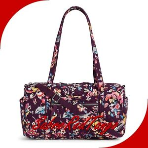 NWT VERA BRADLEY QUILTED ICONIC SMALL TRAVEL DUFFEL BAG FLORAL INDIANA ROSE
