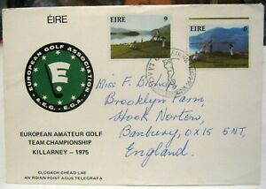Ireland FDC 1975 Golf European Amateur Golf Team addressed