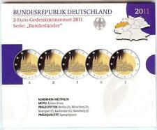 2 Euro Gedenkmünzenset 2011 aus Deutschland, Nordrhein-Westfalen, spiegelglanz