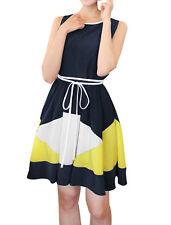 Babydoll Scoop Neck Short Sleeve Dresses for Women
