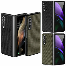 Ultra-thin Carbon Fiber Case Cover Shell for Samsung Galaxy Z Fold 3 Smart Phone