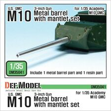 DEF Model 1:35 US M10 3-inch Gun Metal barrel w/mantlet set for Academy #DM35041
