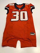 Game Worn Used Illinois Fighting Illini Football Jersey Nike Size 38 #30
