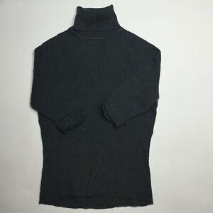 INC International Concepts Women's Ribbed Turtleneck Sweater Gray Size Medium