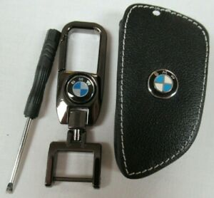 BMW LEATHER LOOP KEYRING & KEYFOB COVER HOLDER KEYCHAIN - NEW IN PACKAGE