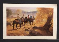 "Robert Summers ""Golden Morning"" Limited Edition Western Art Print COA"