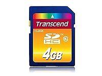 Transcend 4 GB, Class 10 (10MB/s) - SDHC Card - (TS4GSDHC10)