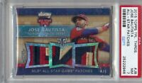 Jose Bautista 2015 Triple Threads 3X AS Patch Graded PSA 7 NM Blue Jays #JB 4/9