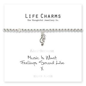 Life Charms Music Is What Feelings Sound Like Bracelet