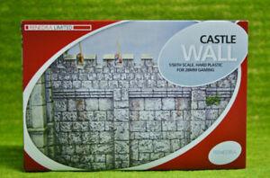 CASTLE WALL Renedra Plastic Scenery Terrain 28mm - 1/56th Scale