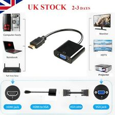 UK 1080P HDMI To VGA Cable Convertor Adapter Patch Cord For TV Monitor Xbox DVD
