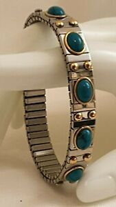 Opal Bracelet Gold 24k Silver Bangle Gift for wife birthday Jewelry Hndmde 2.5ct