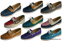 Womens Coolers Faux Nubuck Leather Loafer Lace Up Boat Deck Shoes Sizes 4 - 8