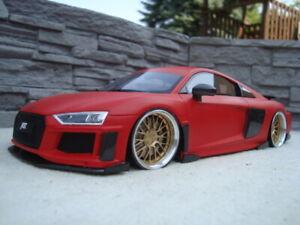 1:18 ABT Audi R8 Tiefer Tuning mit 20 Zoll BBS Echt Alu Felgen