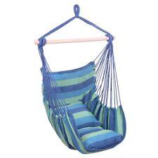 Patio Porch Hanging Rope Chair Garden Swing Seat Indoor Outdoor Hammock+2 Pillow