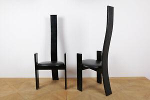 2 Stühle von Vico Magistretti (Modell Golem)