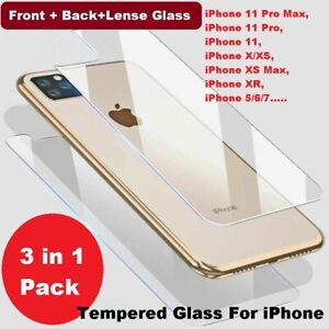Camera Lens + Tempered Glass Screen protector For iPhone 12 11 Pro MAX XR XS MAX