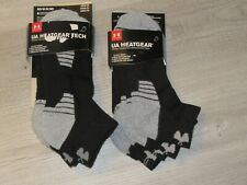 Under Armour Mens Lo Cut Socks Black Gray M ~~6 Pairs~~