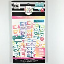 The Happy Planner Layered Boxes Sticker Book Pack Of 356 Me & My Big Ideas