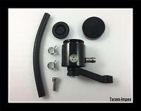 Bocal Aluminium Anodisé CNC Noir pour liquide de Frein / Embrayage de Moto NEUF