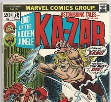 ASTONISHING TALES #20 with Lord of the Hidden Jungle: Ka-Zar from Oct. 1973 VG
