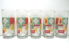 "5 Tabasco Authentic Glassware Retro 6"" Drinking Highball Rocks Tumbler Bar Decor"