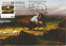 Last of the Buffalo Albert Bierstadt Painting Art Usa Maximum Card Scott #3236