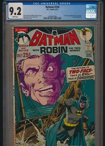 DC COMICS BATMAN #234 1971 CGC 9.2 WP 1st SILVER AGE TWO-FACE NEAL ADAMS COVER