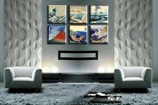"TIME4ART HOKUSAI KATSUSHIKU JAPAN CANVAS PRINT GICLEE SET 6 PCS 16""x16"" inch ART"