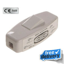 White Pifco Inline Through Switch 6amp Double Pole 250v