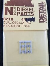 N Scale Diesel Loco Dual Oscillating Headlight, 4 pc - Detail Associates #8218