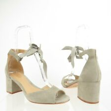 Women's Schutz Nere City Leather Sandal Cement size 10 M NEW S2000100970003 $180