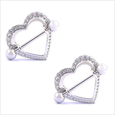 Heart Nipple Rings Jewelry,Nipplerings Piercing Women Sexy Surgical Steel 14G