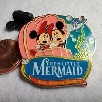 Disney California Adventure Booster Pin Mickey Minnie Ariel's Undersea Adventure