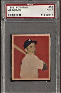 1949 Bowman Baseball # 16 Al Kozar PSA 7
