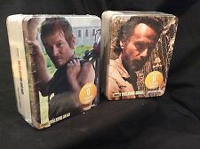 NEW RICK & DARYL THE WALKING DEAD METAL TIN CHIBIS SETS 1 & 2 MIB - 16 EX CHIBIS