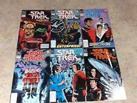 STAR TREK #2,3,4,5,6,7  LOT OF 6 VF 1989-1990 DC