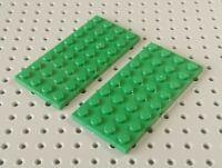 Lego Plate 4x8 [3035] Green x2