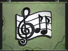 Aufnäher Aufbügler Patch Rockabilly Noten Musik Notenschlüssel