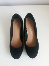 Black suede wedge shoes size 5